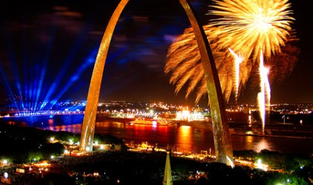 Every photo of St. Louis has the Arch in it. True fact.