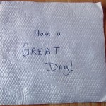 Bucket List: The Napkin Number