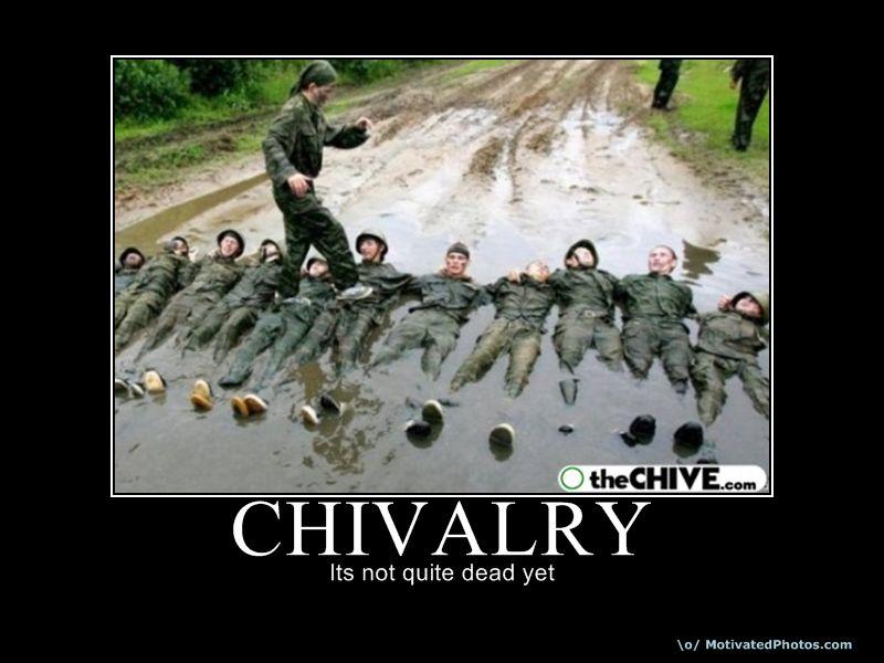 Definition of chivalry is dead